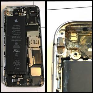 iPhone SE - Eau de Mer mais réparé